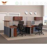 벽 파일 캐비넷 컴퓨터 워크 스테이션을%s 가진 4개의 시트 사무실 워크 스테이션 사무실
