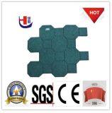 Переплетение Резиновая прокладка, красивые резиновые напольная плитка, зеленый SBR Резиновые плитки
