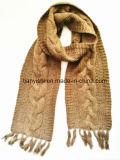 Winter Scarf der Kaschmir-Dame mit der Hand stricken