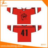 Сублимации вышивки Healong трикотажные изделия формы хоккея команды Eco-Friendly дешевые