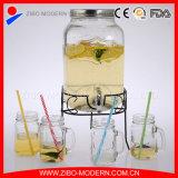 Comércio por grosso de bebidas de bebidas de vidro com balde e suporte
