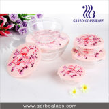 5PCS Printed Glass Bowl Set Glassware