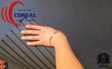 Черная стабилизированная рециркулированная резиновый циновка
