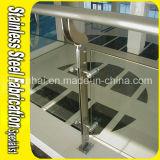 Customedの屋内ステンレス鋼階段バルコニーのガラス柵