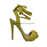 Новые ботинки сандалии высокой пятки повелительницы Способа типа с шнурком