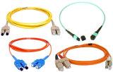 cordon de connexion recto de fibre optique de SM FC-FC de 2.0mm de cavalier optique de fibre de PVC