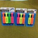 Pena do Highlighter de 4 cores, penas fluorescentes