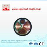 XLPE a isolé le câble d'alimentation de cuivre de conducteur engainé par PVC