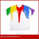 OEMの工場濃紺のシルクスクリーンの印刷のTシャツメーカー(R28)