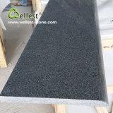 Escaliers gris foncés du granit G654 avec le Bullnose/le bord à moitié Bullnose