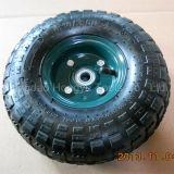 Roda de borracha pneumática do pneumático do carrinho de mão de roda