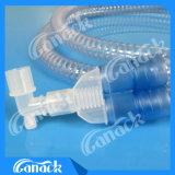 Câmara de ar Smoothbore de respiração do circuito da anestesia médica descartável adulta
