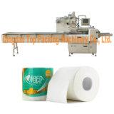 Rolo sanitário do tecido que envolve a máquina de embalagem