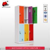 Cacifo de aço colorido do gabinete da roupa da porta da mobília 6 do metal do escritório