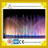 Покрашенный фонтан воды нот фонтана озера круглый
