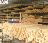 Altos tubos elevados de la protección del termocople del alúmina de la pureza 1800c