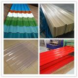 Hoja de acero acanalada caliente del material para techos del material de construcción de la venta (0.125-0.5m m) Dx51d