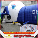 ロゴの印刷を用いる新しい終了するフットボール用ヘルメットの膨脹可能な入口のトンネル