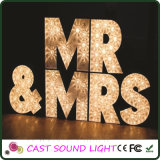 Fancy LED Letter Sign Lights Décoration de mariage multi-formes