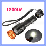CREE Xm-L T6 LED 1800lm Zoomable 18650 LED Tactical Flashlights