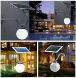 Luzes solares do jardim do diodo emissor de luz do jardim do painel do monocristal