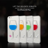 6/6 Plusのための新しい3D Liquid Red Wine Glass Design TPU Phone Case