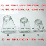 Frasco grande do vidro dos doces do frasco 1300ml do vidro de selo do grande frasco de vidro do alimento