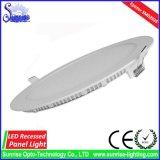 3W-24W runde dünne vertiefte LED-Panel-Deckenleuchte