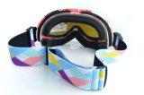 後輩のスキーを競争させるRevoはガラスに合うゴーグルを遊ばす
