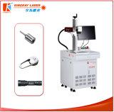 Marcação do laser da fibra do metal dos componentes e máquina de gravura