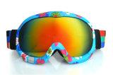 La máscara de esquí polarizada separación de la lente de la PC se divierte anteojos