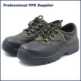 Zapatos de seguridad de acero de la punta de la alta calidad escotada