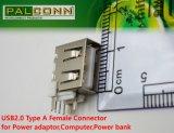 큰 Current~4A! USB2.0 유형 힘 접합기, 힘 은행을%s 암 커넥터