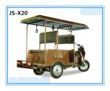 Triciclo elettrico autoalimentato solare, motocicletta elettrica, stile aperto, motorino della famiglia