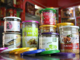o PNF plástico do produto comestível 550ml pode para o empacotamento de alimento (PPC-BJJT-001)
