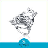 本物の花925のカスタマイズされたデザイン(R-0065)の銀製の宝石類のリング