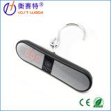 O toque do indicador de diodo emissor de luz fecha a escala de suspensão portátil do gancho do peso da bagagem de 40kg/10g Digitas com alarme da campainha eléctrica