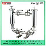 Acero inoxidable dúplex SS316L higiénico-sanitarias de filtro en forma de L