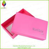 Handgemachter rosafarbener Papierverpackungs-Schuh-Geschenk-Kasten