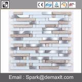 Mosaico de plata de la cocina de la decoración del acero inoxidable del azulejo de mosaico del metal