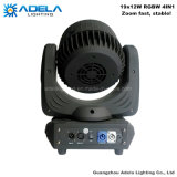 Zoom 19X12W LED Moving Head Beam Lavar la Luz