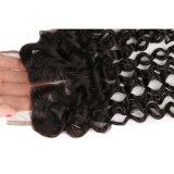 человеческие волосы 7A с госпожей Lula Волосами Weft закрытия с шнурка волос девственницы закрытия закрытием бразильского прямого прифронтовым с пачками