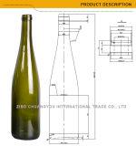 2017深緑色750mlコルクのワイングラスのびん(441)