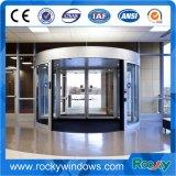 Porte giratoire en verre de modèle neuf pour l'hôpital de centre commercial d'aéroport d'hôtel