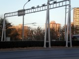 Сталь Поляк лампы островка безопасност хайвея улицы