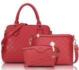 Späteste Damen 2PCS in 1 gesetzter preiswerter Preistote-Dame Handbag, 2016 Herbst PU-lederner Beutel plus Mappe