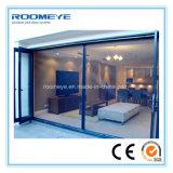 Roomeye die Bi vouwen die van de Deur van het Aluminium van het Type Dubbel Verglaasd BuitenDeuren voor Verkoop vouwen