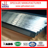 Feuille ondulée de toiture d'acier enduit de zinc