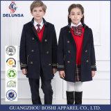 Uniforme scolaire d'hiver de bleu marine de qualité