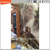 l'impression de Silkscreen de peinture de 3-19mm Digitals/gravure à l'eau forte acide/se sont givrés/plat de configuration/ont déplié Tempered/verre trempé pour l'hôtel, mur à la maison/étage/partition avec SGCC/Ce&CCC&ISO
